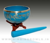Tibetan Coloured Singing Bowls in India